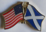 USA and Scotland St Andrew Friendship Flag Pin Badge